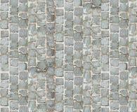 石路面纹理 背景铺有鹅卵石的花岗岩路面 老鹅卵石路面特写镜头抽象背景  Seamle 免版税库存图片