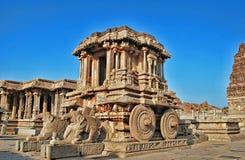 石运输车, Vittala寺庙,亨比,卡纳塔克邦,印度 免版税图库摄影