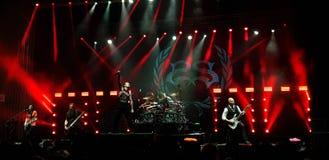 石酸舞台上在音乐会,布加勒斯特,罗马尼亚 库存照片