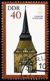 石门,罗斯托克,国际社会的联合国大会纪念碑serie的,大约1984年 免版税库存图片