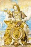 石雕刻古老罗马战士 免版税库存照片