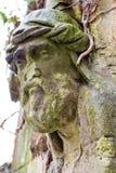 石雕刻的废墟教会教堂 库存照片