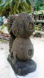 石雕塑。鱼。 免版税库存图片