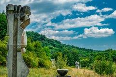 石雕塑 免版税库存照片