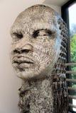 石雕象在一个黑历史博物馆 免版税库存照片