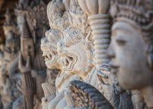 石雕象,登巴萨,巴厘岛,印度尼西亚 免版税图库摄影