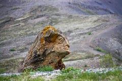 石雕刻在Husafell 免版税图库摄影