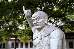 石雕刻Shengin塔在南昌,江西,中国 免版税库存照片