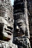 石面孔, Bayon寺庙 库存照片