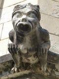 石面貌古怪的人在阿维尼翁,法国 库存照片