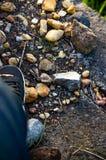 石鞋子 库存照片