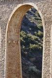 石高架桥在阿尔文托萨,特鲁埃尔省 西班牙 绿化方式 库存图片