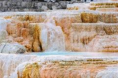 黄石,调色板秋天,马默斯斯普林斯 免版税库存图片