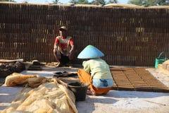 石头为修造做在Wonosobo 免版税库存图片