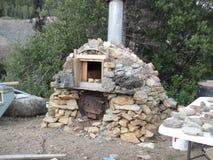 石头制作了烤箱 库存图片