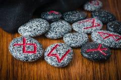 石头北欧诗歌算命的 免版税库存图片