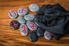 石头北欧诗歌算命的 免版税图库摄影