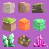 石头和地面元素设计 库存照片