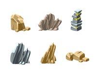 石头和岩石纹理 免版税库存照片