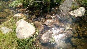 石头和河 免版税库存图片