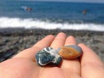 石头和海运 图库摄影
