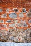 石头和砖墙 免版税库存照片