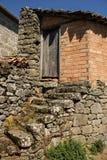 石头和砖老房子在加利西亚,西班牙 免版税图库摄影