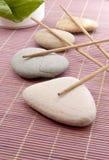 石头和香火 库存照片