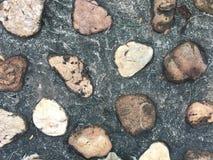 石头和水泥地板 免版税库存图片