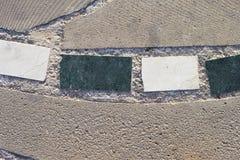 石头四个片断特写镜头与大理石作用的在石路 库存照片