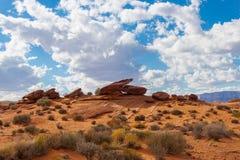 石头在亚利桑那沙漠 库存图片