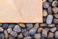 石头在地板上装饰 库存照片