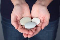 石头在手上 库存图片
