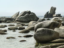 石头在海运 免版税图库摄影