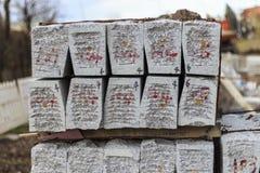 石头在道路工程 图库摄影