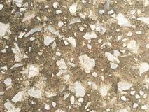 石头在水泥墙纸背景中 库存照片