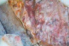石洞壁画在手洞 免版税库存图片