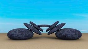 石头平衡了摘要 免版税库存图片