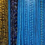 石头成串珠状项链首饰汇集,土耳其工厂 免版税图库摄影