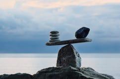 石头标度 图库摄影