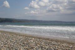 石头海滩 免版税库存照片