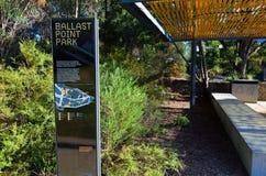 石碴点公园Birchgrove悉尼 免版税库存图片