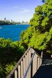 石碴点公园Birchgrove悉尼 图库摄影