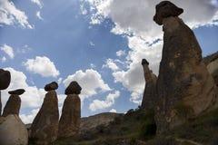 石头现象在卡帕多细亚Turkey_3 库存照片