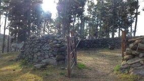 石头畜栏 图库摄影