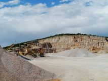 石头的开发在Tounj在克罗地亚 库存照片
