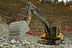 石头的提取在猎物的 免版税库存图片