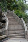 从石头的老台阶 库存照片