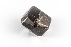 石榴石雕琢平面的水晶 库存照片