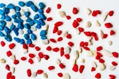 石头-美国国旗的风格化图象 免版税库存图片